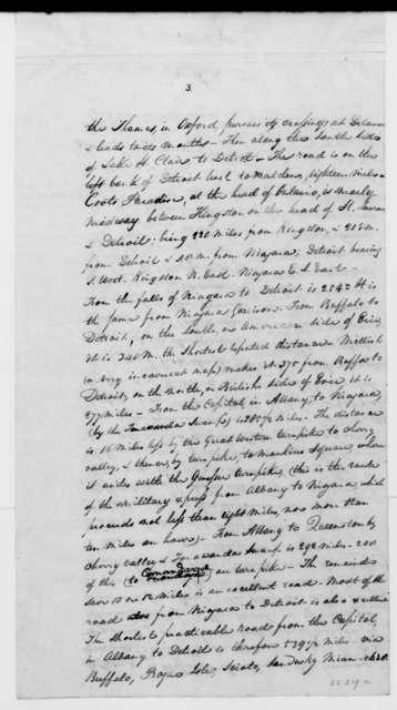 J. H. Tiffany to Daniel D. Tompkins, January 3, 1813. With Notes on Canada.