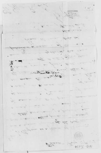James Cutbush to Thomas Jefferson, February 14, 1813