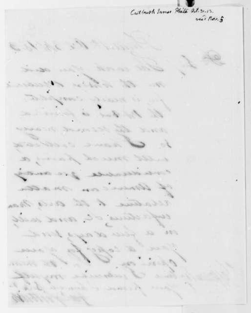 James Cutbush to Thomas Jefferson, October 31, 1813