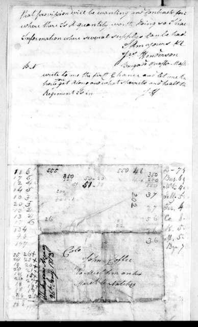 James Henderson to John Coffee, January 26, 1813
