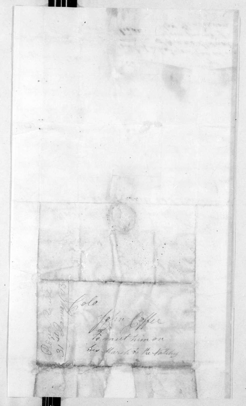 James Henderson to John Coffee, January 31, 1813