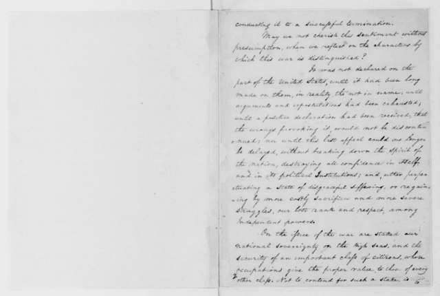 James Madison, March 4, 1813. Speech, Second Inaugural.