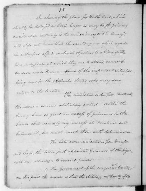 James Madison to John Armstrong, November 15, 1813.