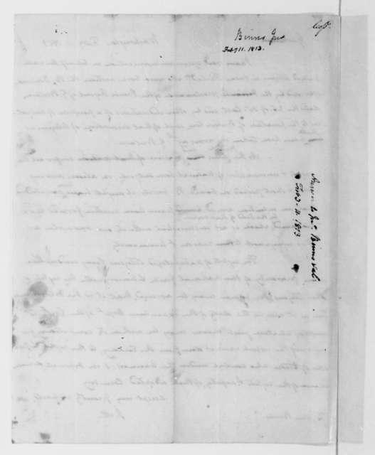 James Madison to John Binns, February 11, 1813.