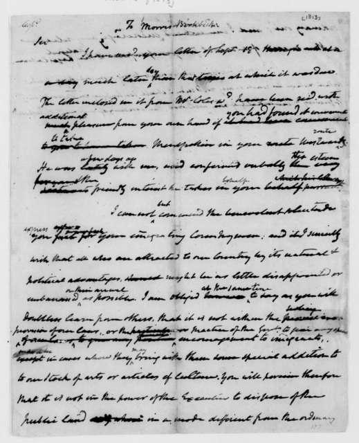 James Madison to Morris Birkbeck. 1813.