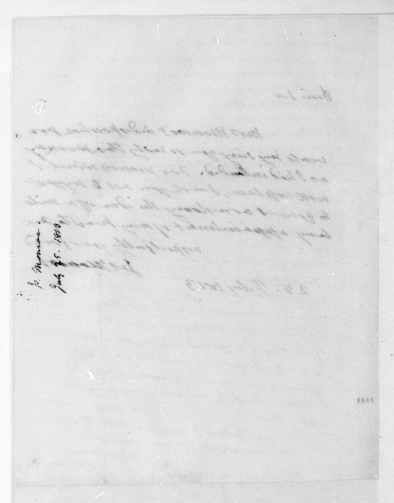 James Monroe to James Madison, March 25, 1813.