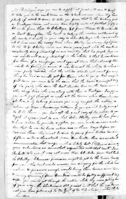 James Robertson to Andrew Jackson, March 15, 1813