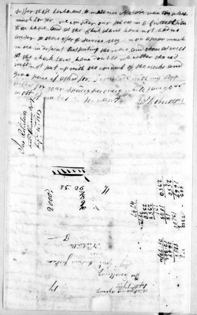 James Robertson to Andrew Jackson, September 16, 1813