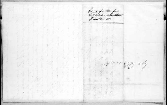 James Robertson to Willie Blount, December 9, 1813