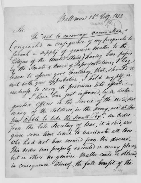 James Smith to James Madison, July 26, 1813.