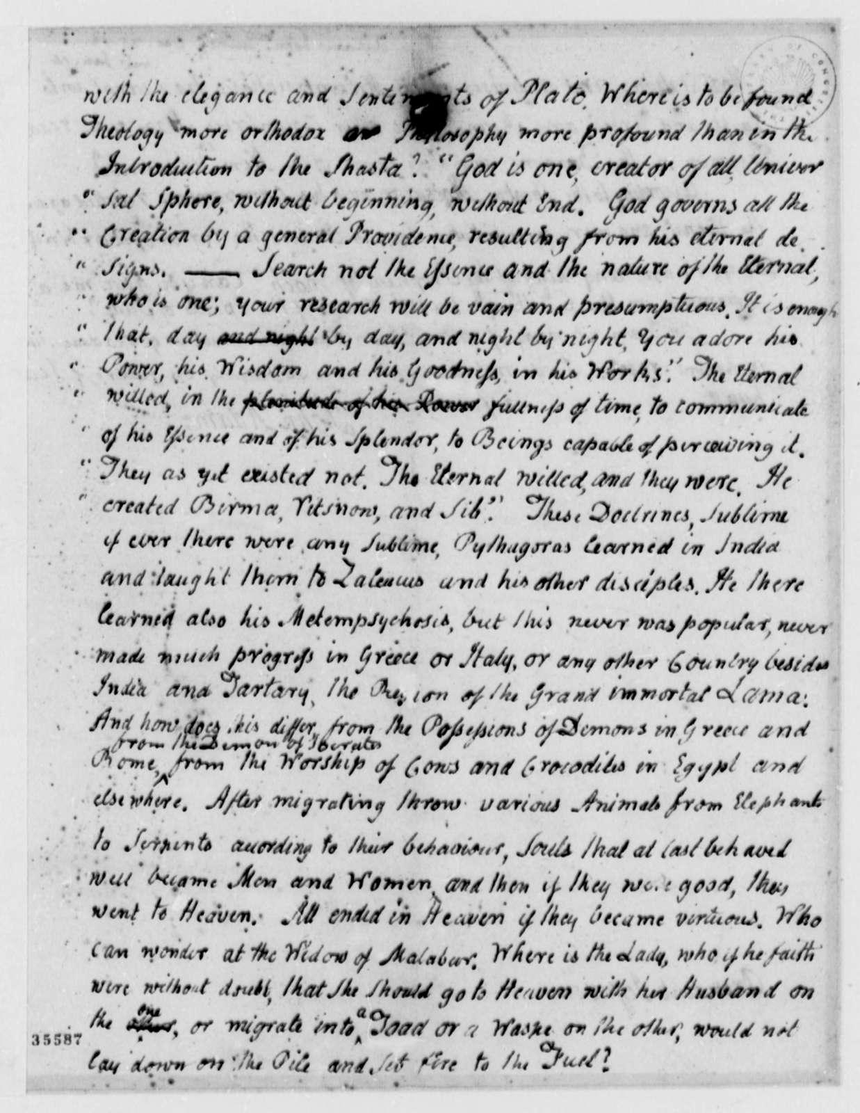 John Adams to Thomas Jefferson, December 25, 1813