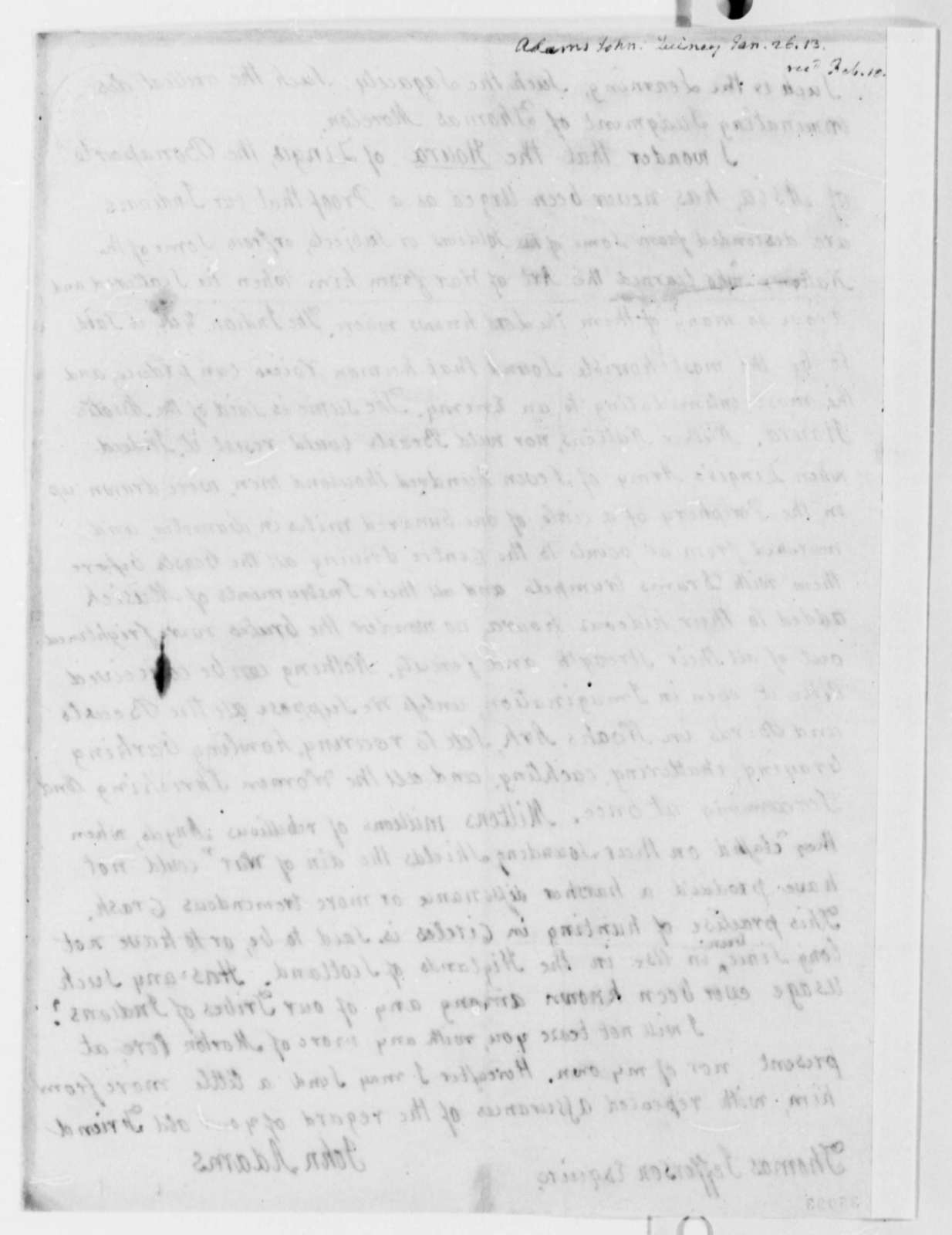 John Adams to Thomas Jefferson, January 26, 1813