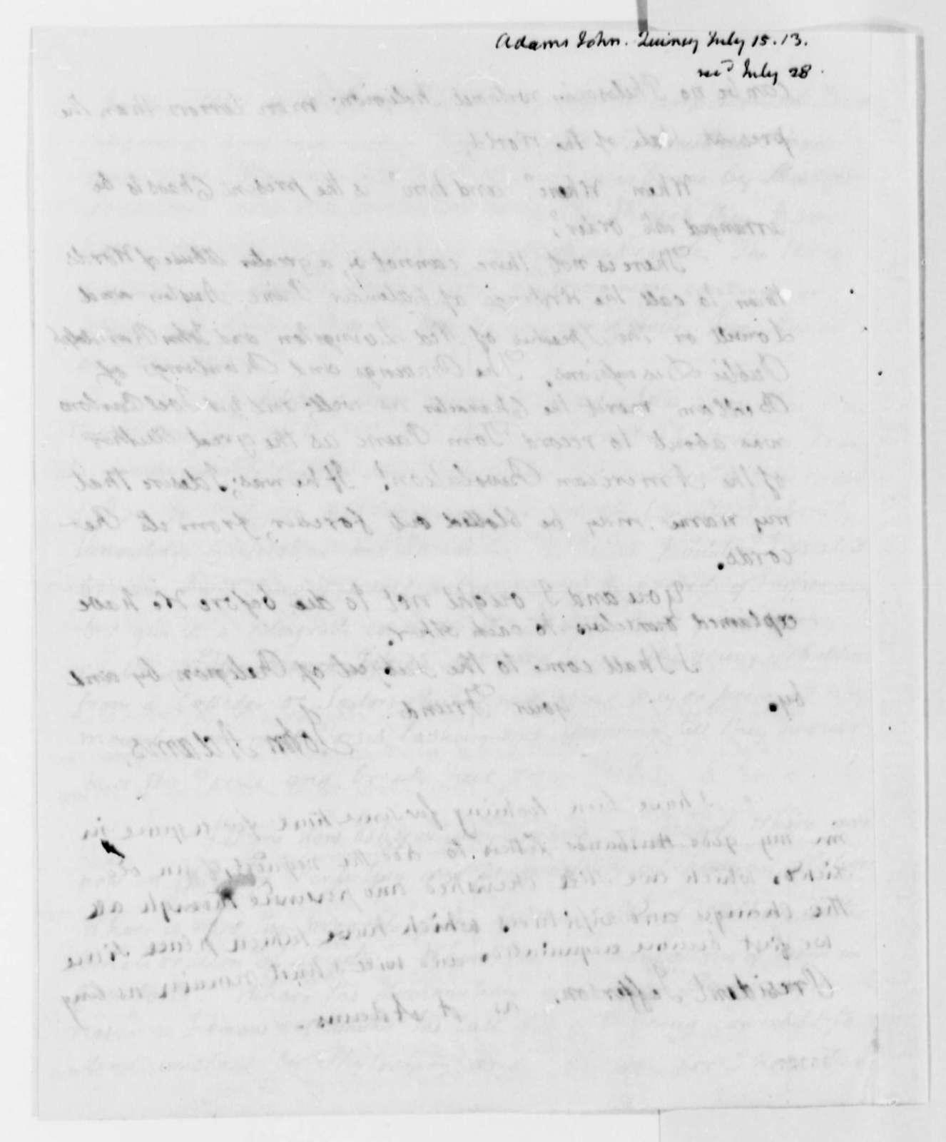 John Adams to Thomas Jefferson, July 15, 1813