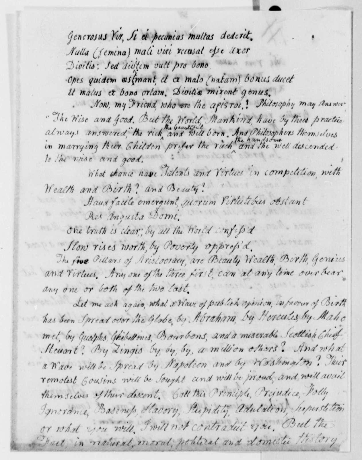 John Adams to Thomas Jefferson, September 2, 1813