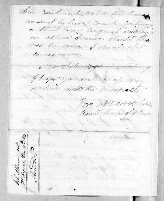 John Allcorn to Andrew Jackson, December 19, 1813