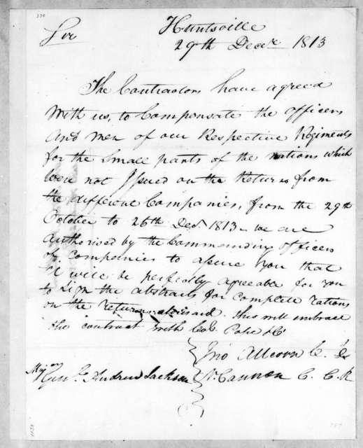 John Allcorn to Andrew Jackson, December 29, 1813