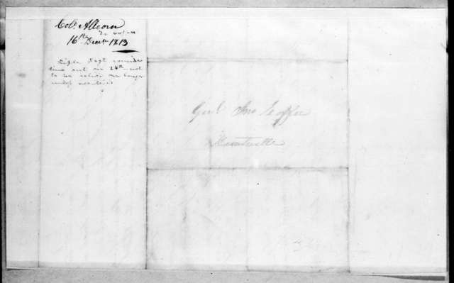 John Allcorn to John Coffee, December 16, 1813