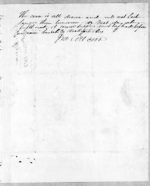 John Allcorn to John Coffee, December 20, 1813
