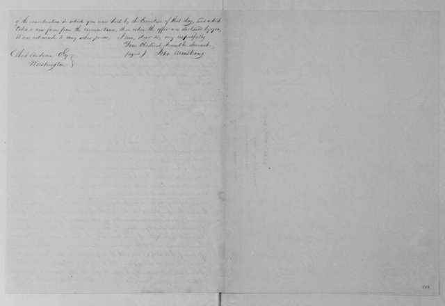 John Armstrong to Elbert Anderson Jr., February 8, 1813.
