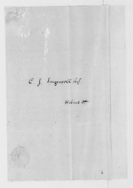 John Binns to Charles J. Ingersoll, April 24, 1813.