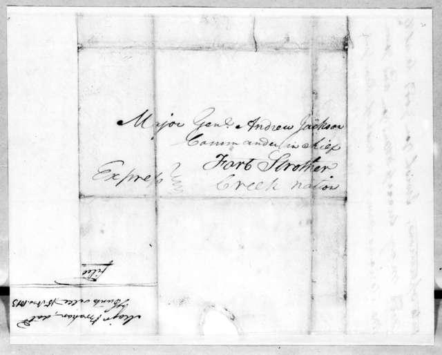 John Brahan to Andrew Jackson, November 15, 1813