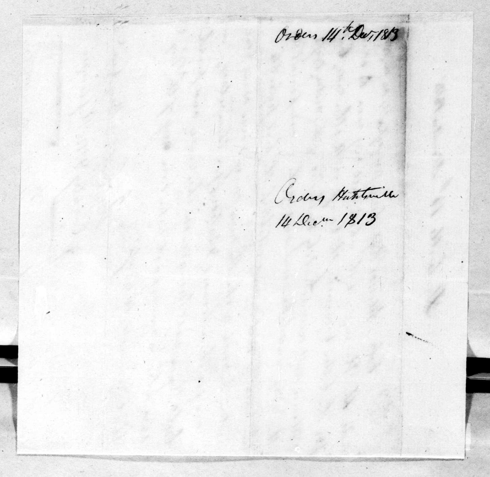 John Coffee, December 14, 1813