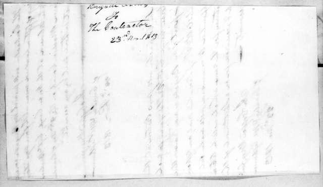 John Coffee, November 23, 1813
