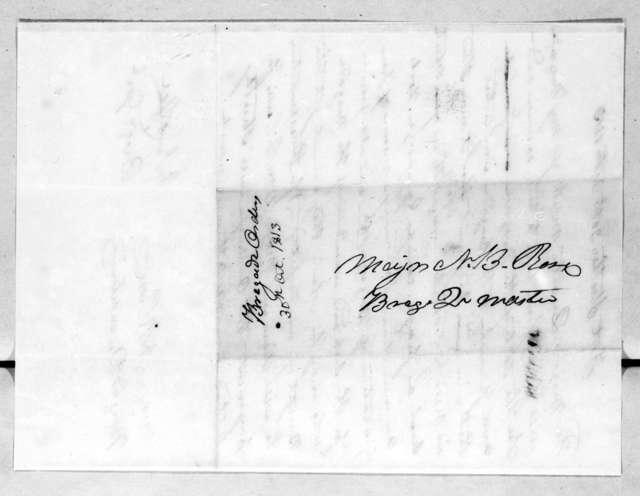 John Coffee, October 30, 1813