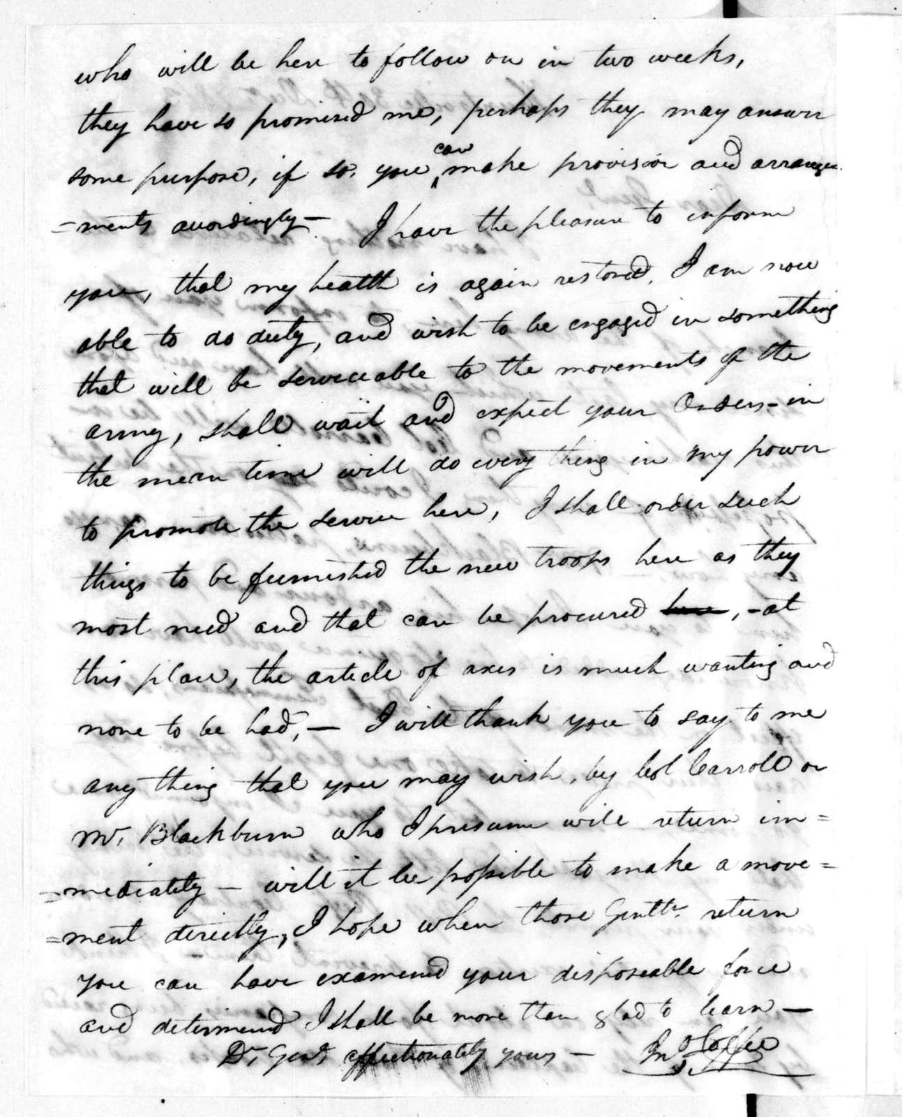 John Coffee to Andrew Jackson, December 30, 1813