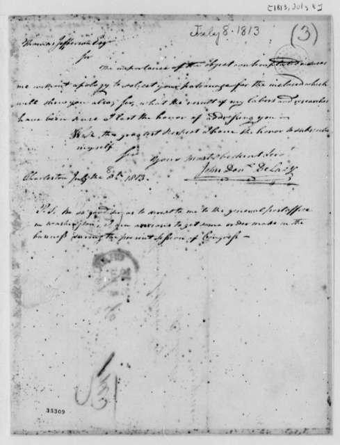 John Devereux Delacy to Thomas Jefferson, July 8, 1813