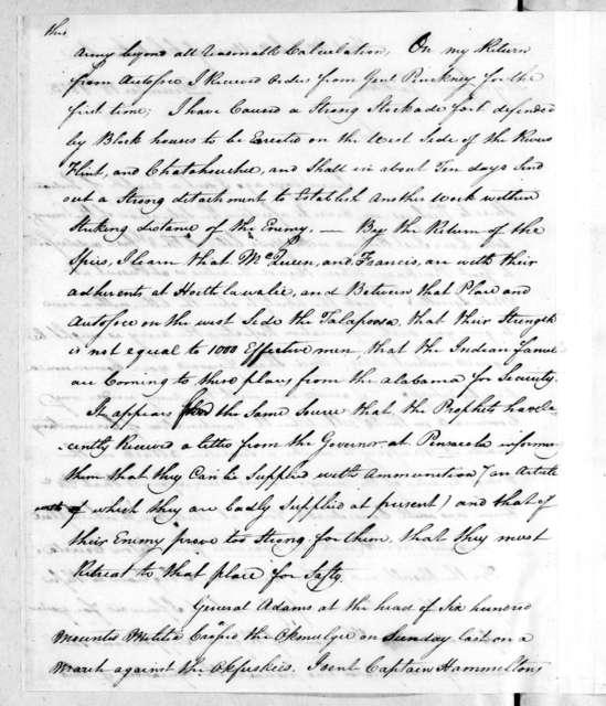 John Floyd to Andrew Jackson, December 18, 1813