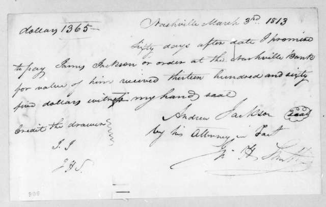 John H. Smith to James Jackson, March 3, 1813
