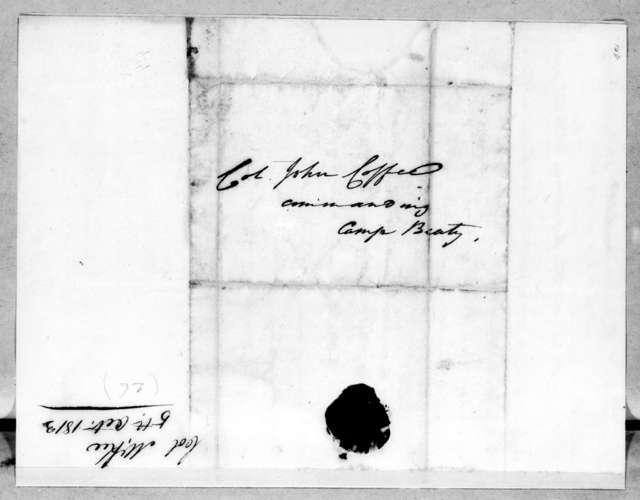John McKee to John Coffee, October 5, 1813