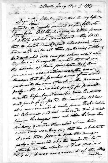 John McKee to John Coffee, October 6, 1813