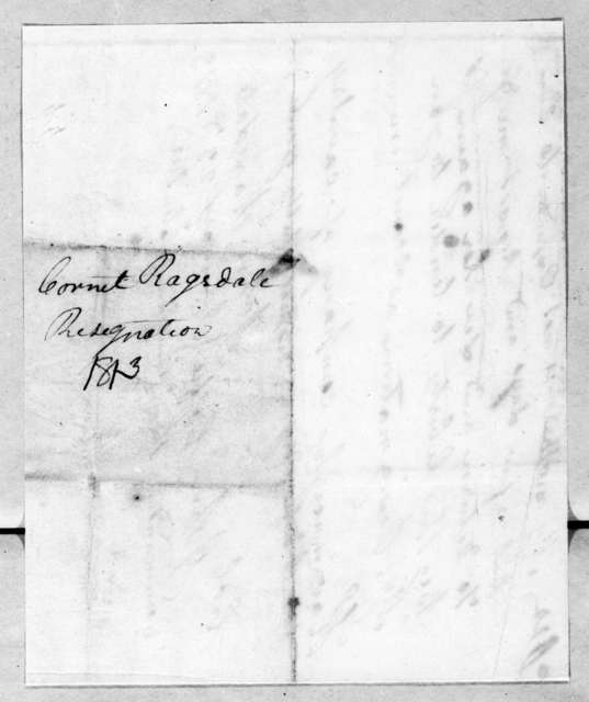 John Ragsdale to John Coffee, January 23, 1813