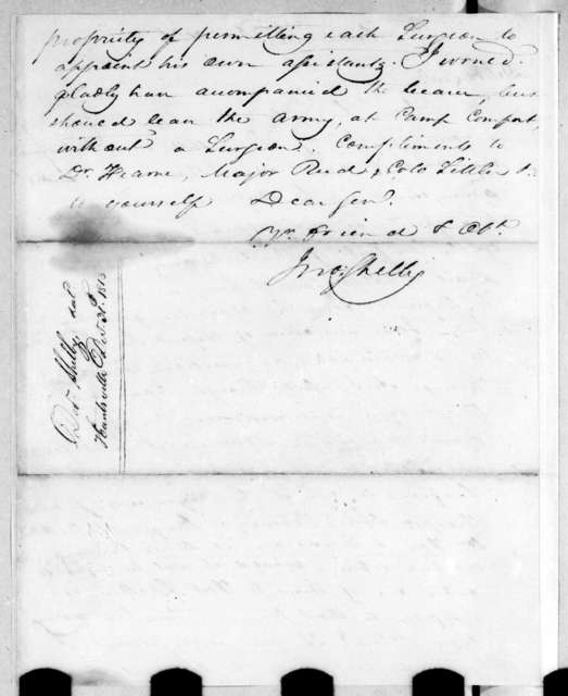John Shelby to Andrew Jackson, December 30, 1813