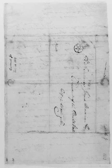 Jonathan Cutbush to James Madison, February 14, 1813.