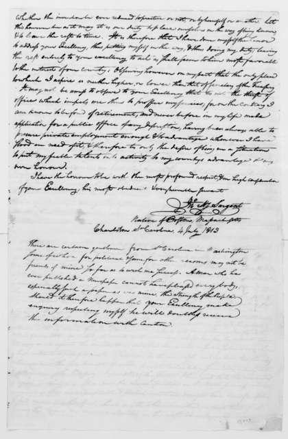 Jonathan H. Sargent to James Madison, July 4, 1813.