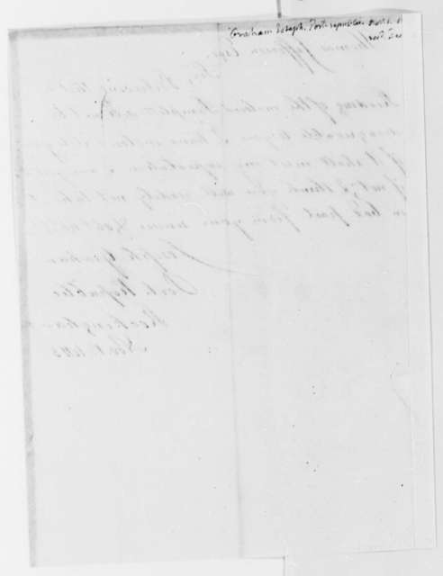 Joseph Graham to Thomas Jefferson, November 1, 1813