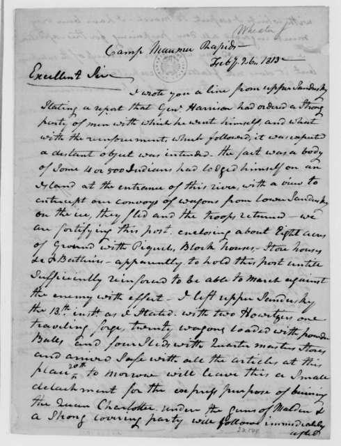 Joseph Wheaton to James Madison, February 26, 1813.
