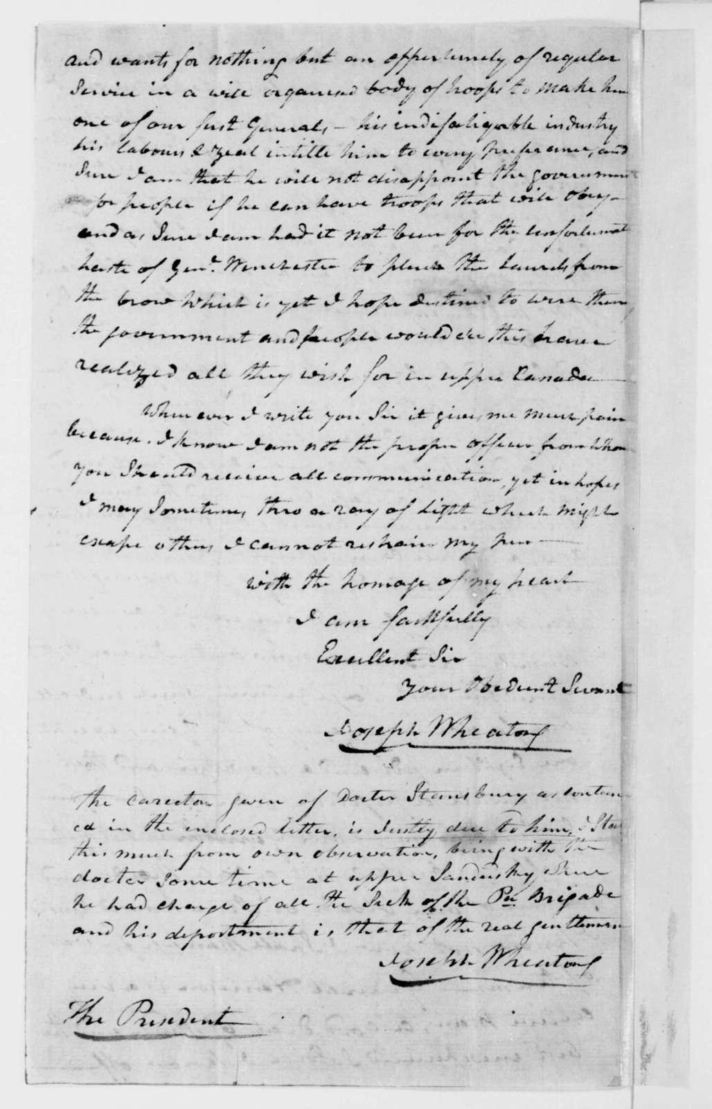 Joseph Wheaton to James Madison, March 12, 1813.