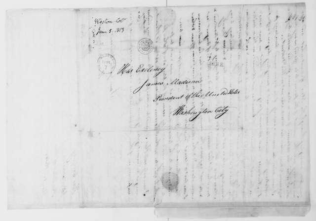 Josiah Weston to James Madison, June 5, 1813.