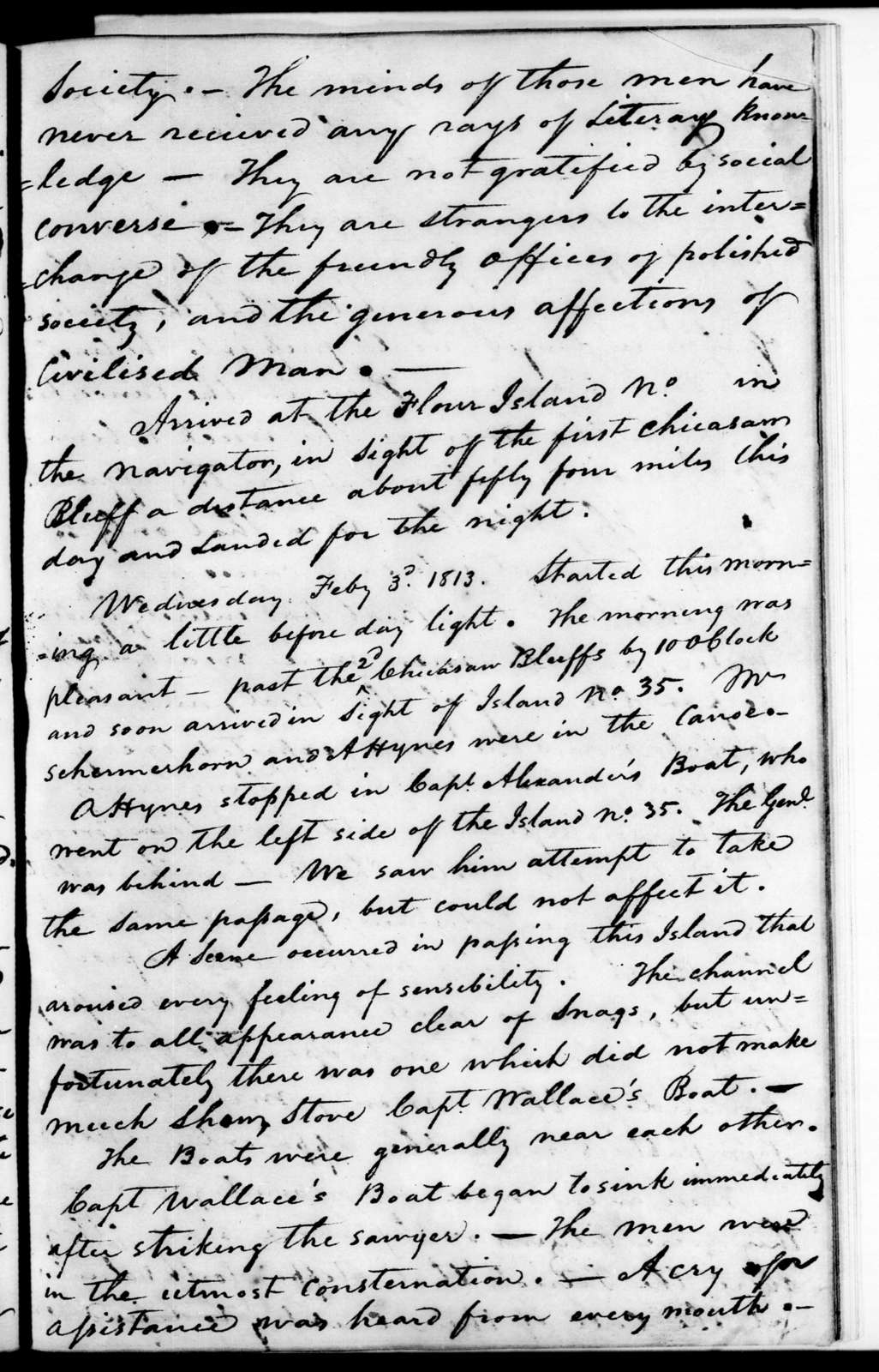 Journal of the march. Journal of trip down the Mississippi River, January 1813 to March 1813