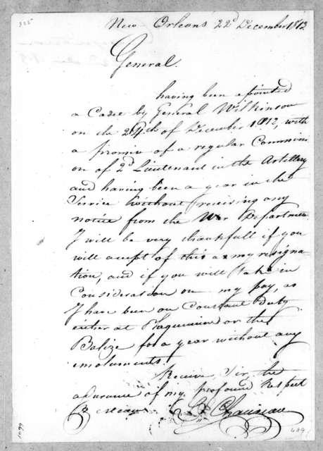 L. Chauveau to Andrew Jackson, December 22, 1813