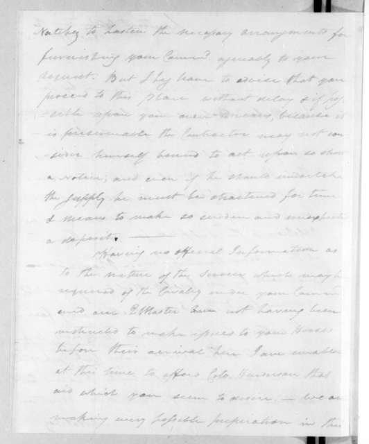 Leonard Covington to John Coffee, February 12, 1813