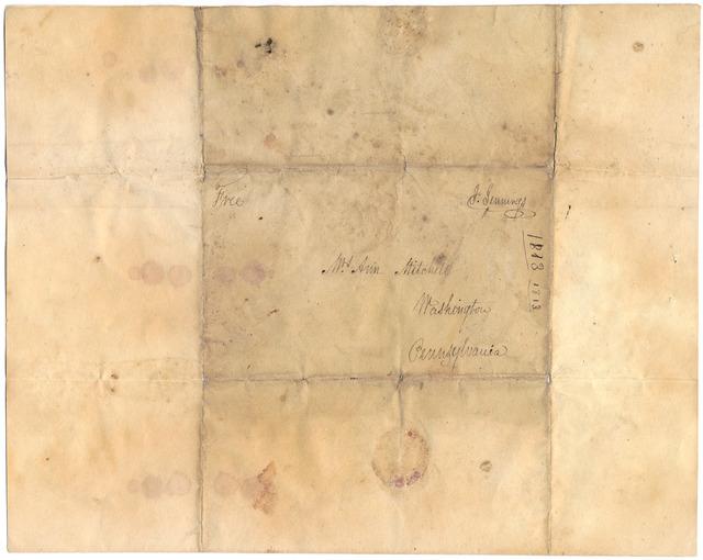 Letter from Jonathan Jennings to Ann Jennings Mitchell