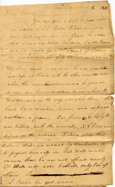 Letter from Thomas Hart to Isaac Gwathmey
