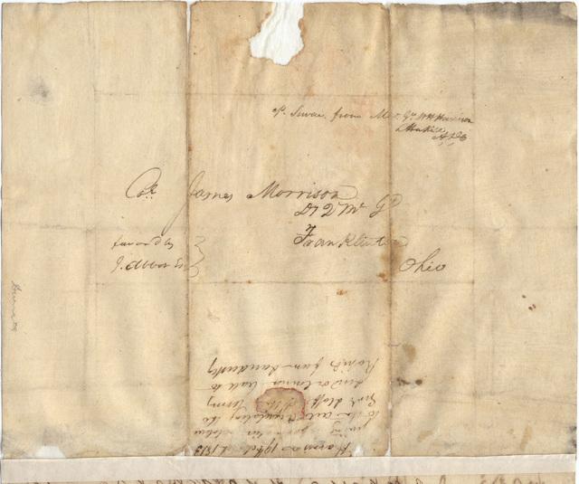 Letter from William Henry Harrison to James Morrison
