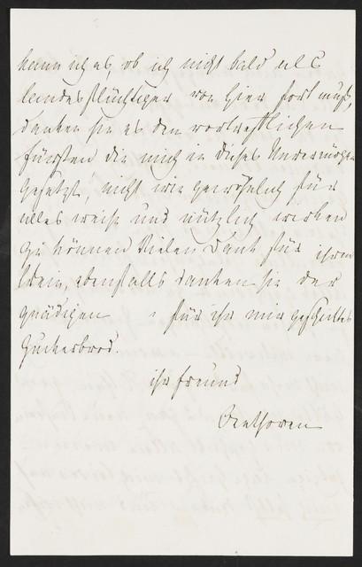 Ludwig van Beethoven autograph letter to the Chevalier Josef de Varena, 1813 May 27