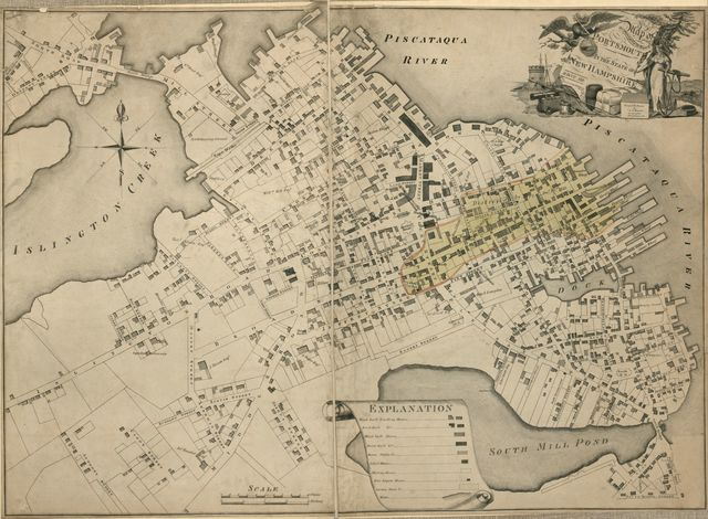 Map of the compact part of the town of Portsmouth in the state of New Hampshire : 1813 /